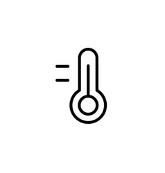 thermometer icon thin line black vector image