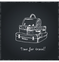 time to travel motivational travel poster vector image