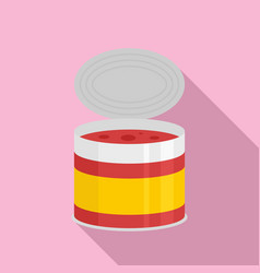 tomato tin can icon flat style vector image