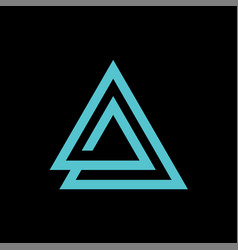 triangle icon with letters a logo template vector image