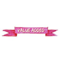 Value added ribbon vector