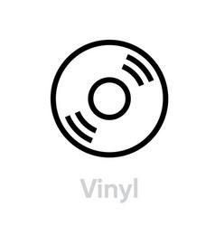 Vinyl music icon vector