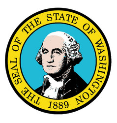 Washington state seal vector