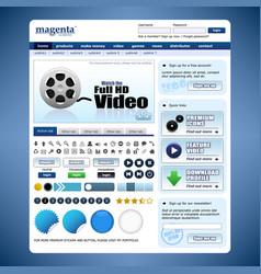 web design element template a complete set vector image