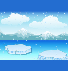 Winter landscape with snow vector