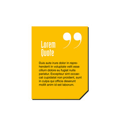 Yellow innovative quotation template in quotes vector