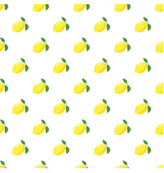 yellow lemon pattern vector image