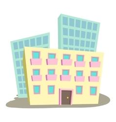Administrative building icon cartoon style vector image vector image