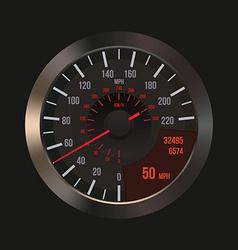 Car Dashboard Speedometer vector image