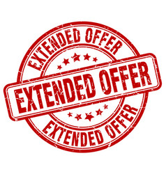 extended offer vector image vector image