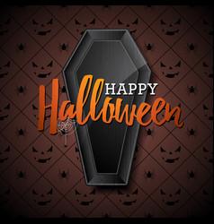 happy halloween with black vector image