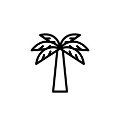 palm icon thin line black on white background vector image