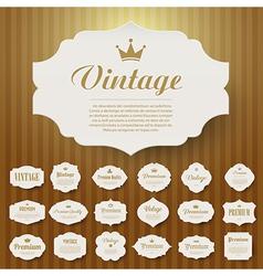 Set of vintage frame vector image vector image