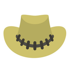 cowboy hat icon isolated vector image vector image