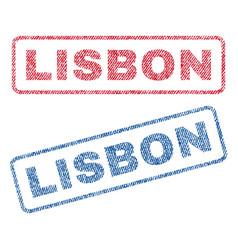 Lisbon textile stamps vector