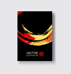 red and gold design templates vector image