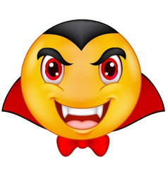 Vampire emoticon vector image