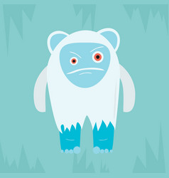 yeti evil character vector image
