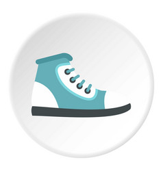 boot icon circle vector image
