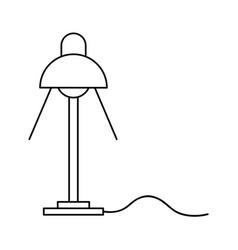 desk lamp light bulb electricity object outline vector image
