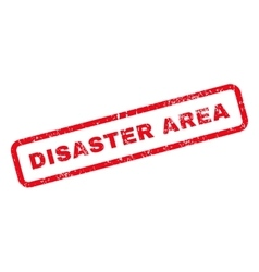 Disaster Area Text Rubber Stamp vector image vector image