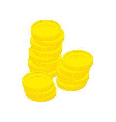 gold coins isolated stack of money on white vector image