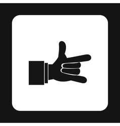 I Love You hand sign icon simple style vector image