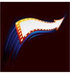 neon arrow vector image vector image