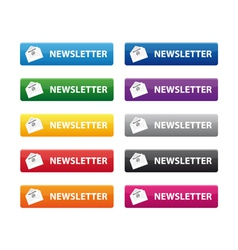 newsletter buttons vector image vector image