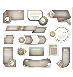 set of grey progress version step icons vector image vector image
