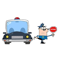 Traffic Police vector image vector image