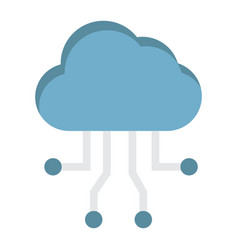 cloud computing flat icon seo and development vector image vector image