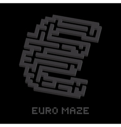 Dollar business isometric black maze vector image vector image