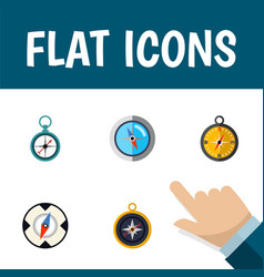 flat icon compass set of divider navigation vector image vector image