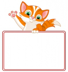 kitten place card vector image vector image
