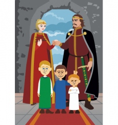 noble family vector image vector image