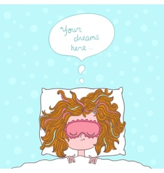 abstract about girl dreams and wishes vector image