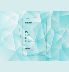 abstract blue ice polygonal triangle geometric vector image