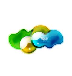 Abstract glossy shiny shape liquid glass splash vector