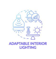 Adaptable interior lighting concept icon vector