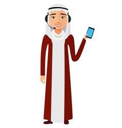 Arab customer service call center operator vector