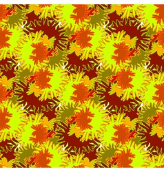 Autumn seamless pattern with red orange and brown vector image