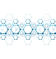 background of blue molecule structure vector image