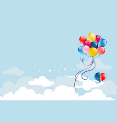 balloons on blue sky vector image