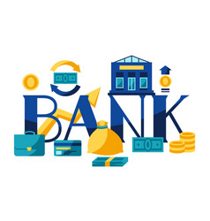 banking with money icons vector image