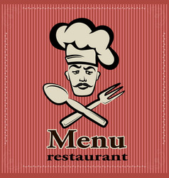 banner for restaurant and cafe bar cook w vector image