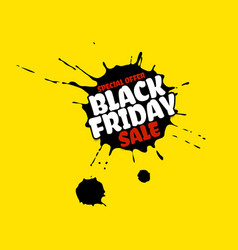 black friday sale grunge poster red special offer vector image