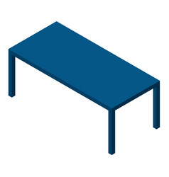 Blue table icon isometric style vector