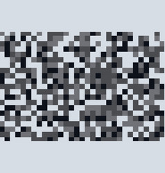 camouflage pattern texture in pixel gray shades vector image
