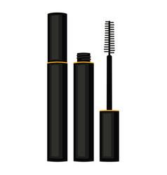 cartoon black mascara vector image